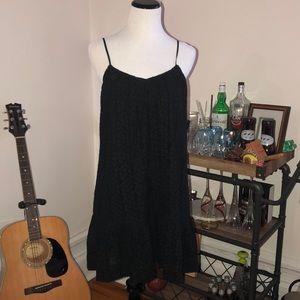 Black Madewell Embroidered Dress